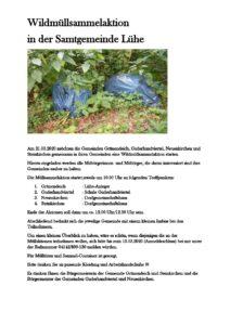 —ABGESAGT— Müllsammel-Aktion